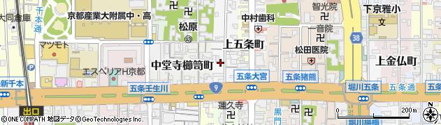 京都府京都市下京区下長福寺町周辺の地図