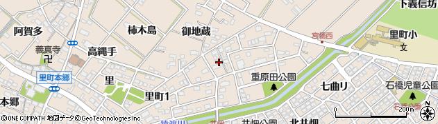愛知県安城市里町(新屋敷)周辺の地図