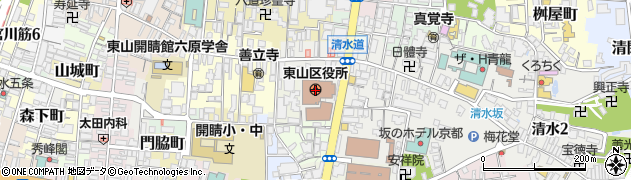 京都府京都市東山区周辺の地図