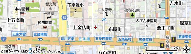 京都府京都市下京区天使突抜二丁目周辺の地図