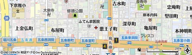 京都府京都市下京区高砂町周辺の地図