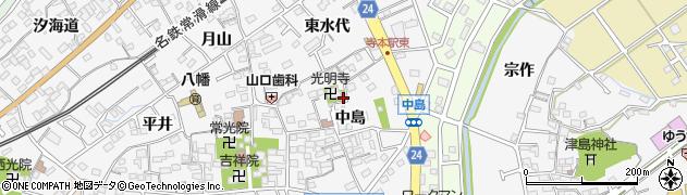 愛知県知多市八幡周辺の地図