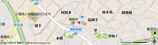愛知県安城市里町(早稲田)周辺の地図