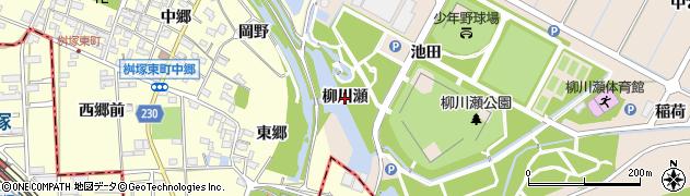 愛知県豊田市畝部東町(柳川瀬)周辺の地図