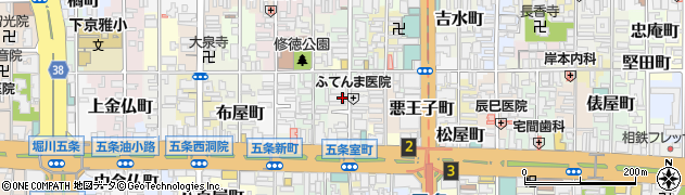 京都府京都市下京区坂東屋町周辺の地図