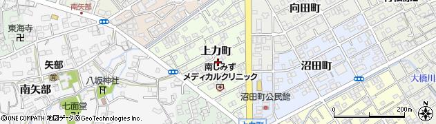 静岡県静岡市清水区上力町周辺の地図