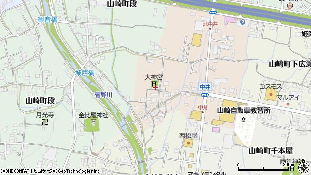 〒671-2545 兵庫県宍粟市山崎町中井の地図