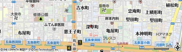京都府京都市下京区深草町周辺の地図