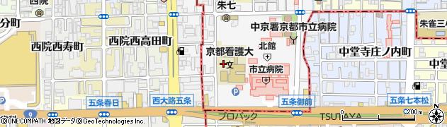 京都府京都市中京区壬生東高田町周辺の地図