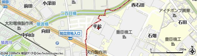 愛知県安城市今本町(平松)周辺の地図