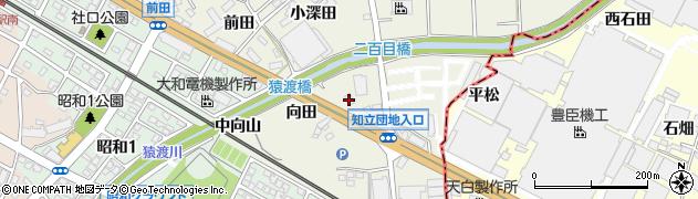 愛知県知立市牛田町(向田)周辺の地図