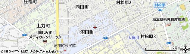 静岡県静岡市清水区沼田町周辺の地図
