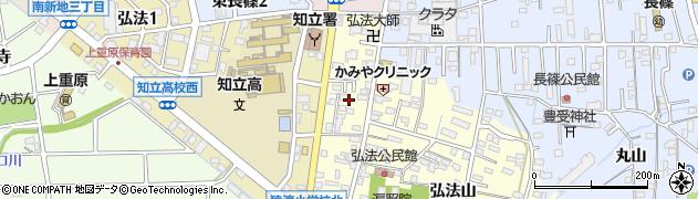 愛知県知立市弘法町(丁凪)周辺の地図