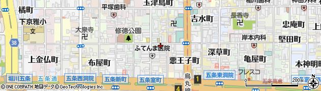 京都府京都市下京区御供石町周辺の地図