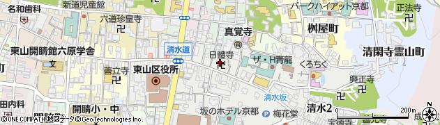 日体寺周辺の地図