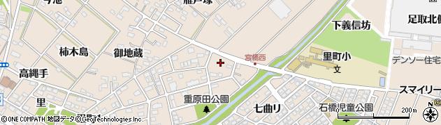 愛知県安城市里町(用手木)周辺の地図