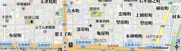 京都府京都市下京区万寿寺中之町周辺の地図