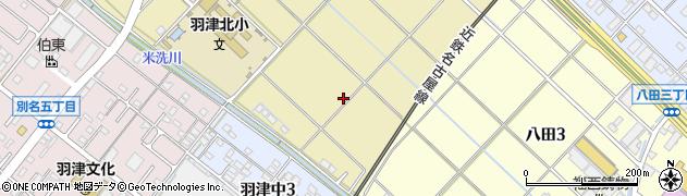 三重県四日市市羽津周辺の地図