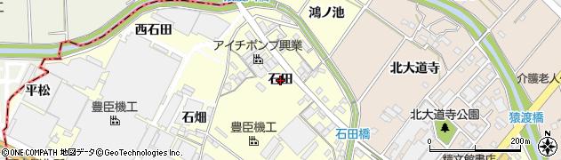愛知県安城市今本町(石田)周辺の地図