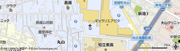 愛知県知立市長篠町(大山)周辺の地図