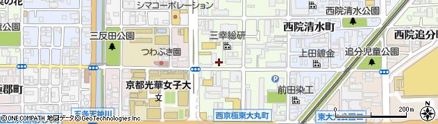 京都府京都市右京区西院月双町周辺の地図