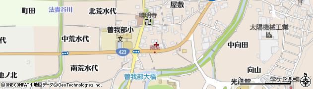 京都府亀岡市曽我部町南条(上河原)周辺の地図