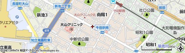 愛知県知立市南陽周辺の地図