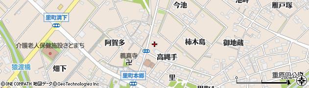 愛知県安城市里町(焼山)周辺の地図