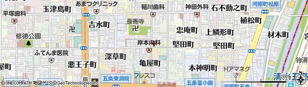 京都府京都市下京区官社殿町周辺の地図