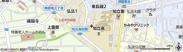 愛知県知立市弘法周辺の地図