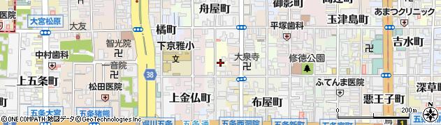 京都府京都市下京区天使突抜一丁目周辺の地図
