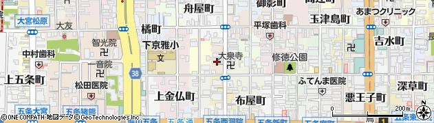 京都府京都市下京区永倉町周辺の地図