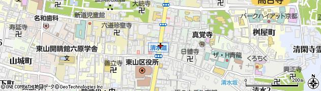 京都府京都市東山区辰巳町周辺の地図