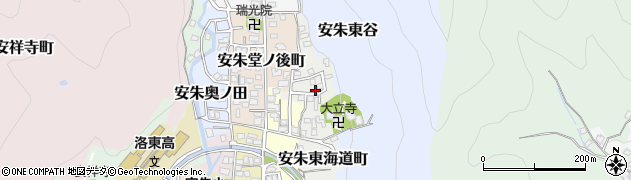 京都府京都市山科区安朱東海道町周辺の地図