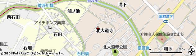 愛知県安城市里町(北大道寺)周辺の地図