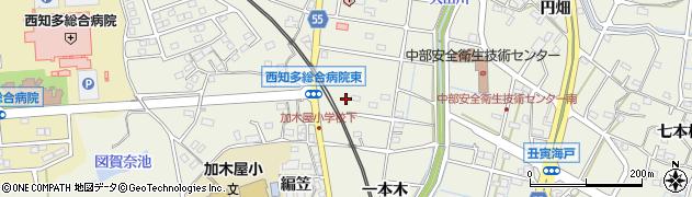 愛知県東海市加木屋町(鈴井田)周辺の地図