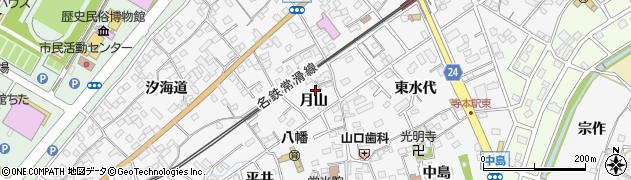 愛知県知多市八幡(月山)周辺の地図