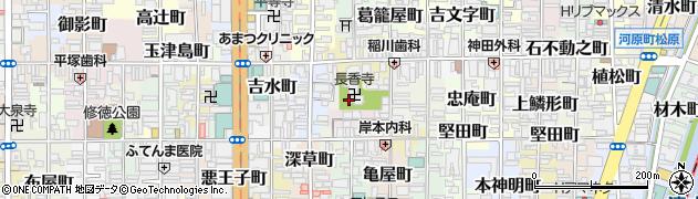 京都府京都市下京区樋之下町周辺の地図