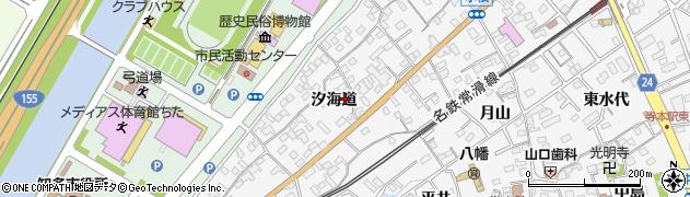 愛知県知多市八幡(汐海道)周辺の地図