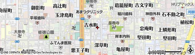 京都府京都市下京区大江町周辺の地図
