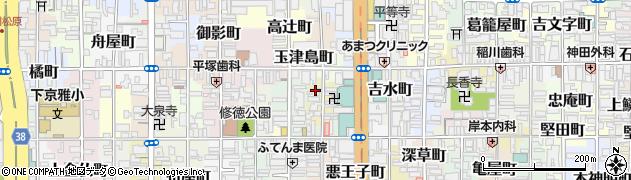 京都府京都市下京区弁財天町周辺の地図