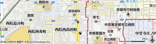 京都府京都市右京区西院高田町周辺の地図