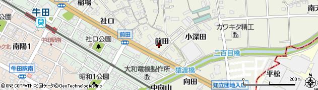 愛知県知立市牛田町(前田)周辺の地図
