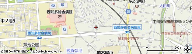 愛知県東海市加木屋町(与平山)周辺の地図