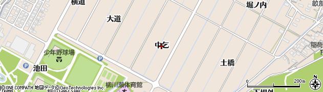 愛知県豊田市畝部東町(中乞)周辺の地図