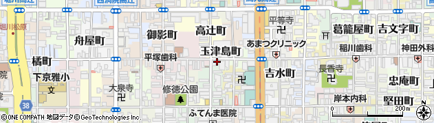 京都府京都市下京区玉津島町周辺の地図