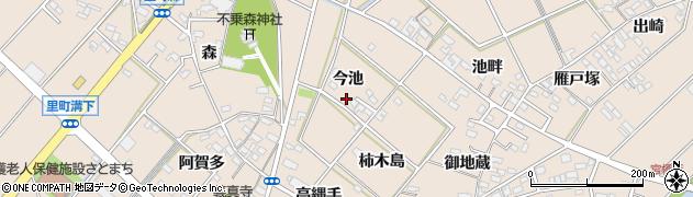 愛知県安城市里町(今池)周辺の地図