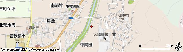 京都府亀岡市曽我部町南条(中向田)周辺の地図