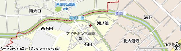 愛知県安城市今本町(鴻ノ池)周辺の地図