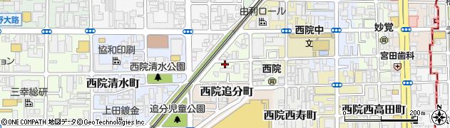 京都府京都市右京区西院太田町周辺の地図